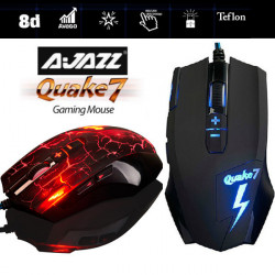 AJAZZ Quake7 Smart 2400 Dpi 8D Breath LED Trådbunden Optisk Gaming Mus