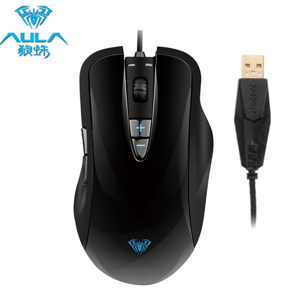 AULA Ogre Soul Kabling Ergonomisk Mus 800-1200-1600-2000 DPI Tastaturer & Mus