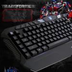 AULA USB Vattentät Bakgrundsbelyst Trådbunden Gaming Tangentbord med Multimedia Key Tangentbord & Mus