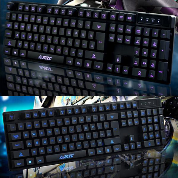Ajazz LED Backlit Kabling Gaming Tastatur Metal Base Mechanical Handfeel Tastaturer & Mus