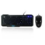 Ajazz X5 Backlit Kabling Gaming Tastatur A1080 Gaming Mus Set Tastaturer & Mus
