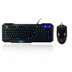 Ajazz X5 Backlit Kabling Gaming Tastatur A1080 Gaming Mus Set