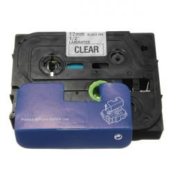 Schwarz auf durchsichtig Etikettenband für Brother P touch Laber Maker 12mm TZ 131