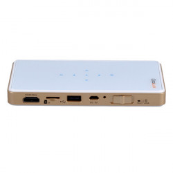 COOLUX Q6 854x480 HD Portable Hvid Projektor Airplay Miracast DLNA