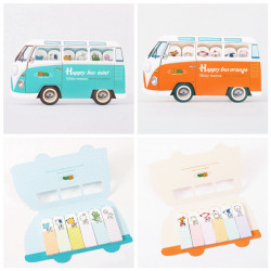 Cartoon Tier Bus Post It Bookmark Marker Memo Sticky Notes Zufalls