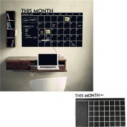 Svarta Tavlan Avtagbar Vinyl Väggklistermärke Dekor Månaders Plan Kalender DIY