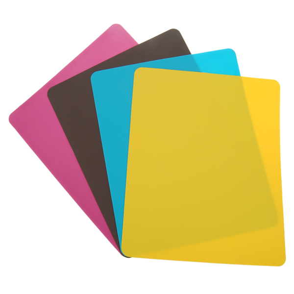 Color Mouse Pad Silica Gel Rectangle Keyboards & Mouse