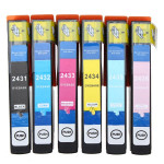 Compatible Ink Cartridges with Chip for Epson XP-750/850 Office & School Supplies