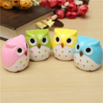 Creative Stationery Cute Owl Bird Pencil Sharpener Tow Holes Office & School Supplies