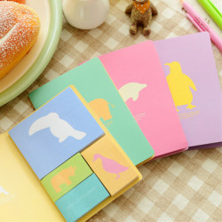 Cute Animals Shadow Sticky Notes Post-it Note Sticker Tilfældig