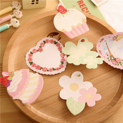 Cute Macaron Heart Flower Cartoon Memo Post It Sticky Notes Random