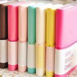 Nettes Lächeln Gesicht Süßigkeit Farben Mini Notebooks Briefpapier Notizblöcke Büro & Schulbedarf