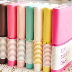 Cute Smile Face Candy Color Mini Notebooks Stationery Note Pads