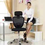 D07 Rocking Office Air Grid Lift Mesh Swivel Chair Kontor & Skoleartikler