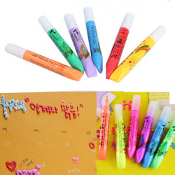 DIY Schreibwaren Popcorn Lackstift Farben Pen Graffiti Bubbles Pen