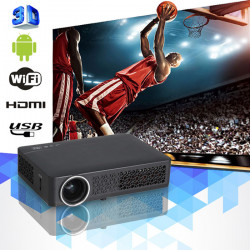DLP-800MW HD 1280*800 Active Shutter 3D Android 4.2.2 Wifi LED Projector