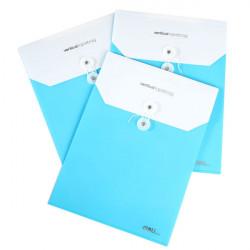 Deli 5519 Plastdokumenthållare A4 Knäppas Kuvert File Väska Slumpmässig