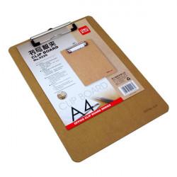 Deli 9226 Plywood Trä Clip A4 Filmapp Skriva CLIPBOARD