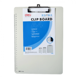 Deli 9248 A4 Plastic Clip White Clipboards With Tick Mark
