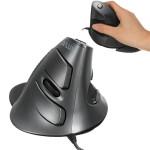 Delux M618BU Wired Vertikal Ergonomische 1600DPI optische USB Maus Tastaturen & Maus