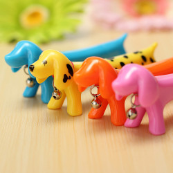 Dog Shaped Ballpoint Pen Blue Ink Lovely Candy Colors Dachshund