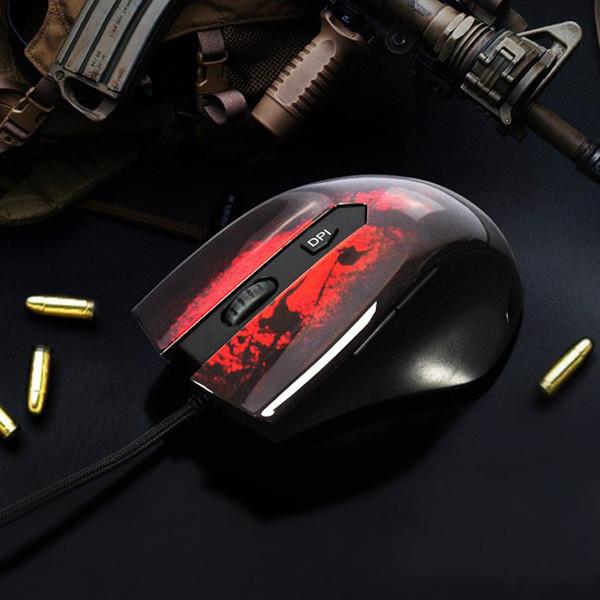 FlashGet X100 3200DPI 6 Tasten USB verdrahtete Maus mit LED Licht Tastaturen & Maus