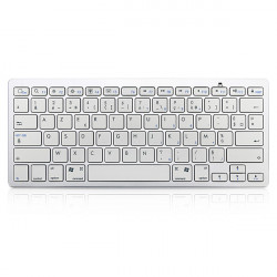 Französisch Bluetooth V3.0 Weiß Tastatur für PC Macbook Android