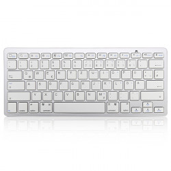 German Bluetooth V3.0 White Keyboard for PC Macbook Android