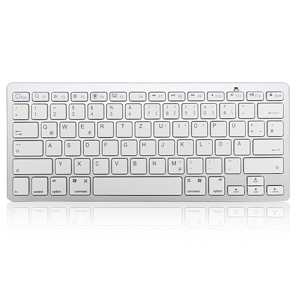 German Bluetooth V3.0 White Keyboard for PC Macbook Android Keyboards & Mouse