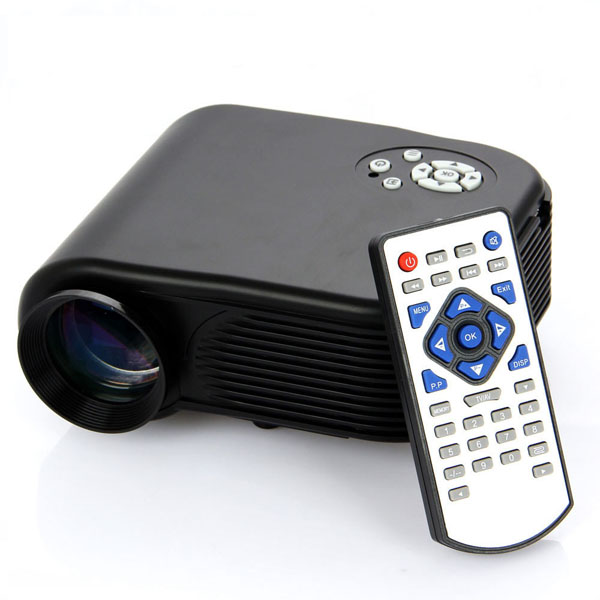 H88 Portable 180LM Mini Home Theater LED LCD Projector HDMI USB Office & School Supplies