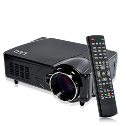 HR 800x600 2200 lumens HD Home Theater LED Projector Support DVB-T