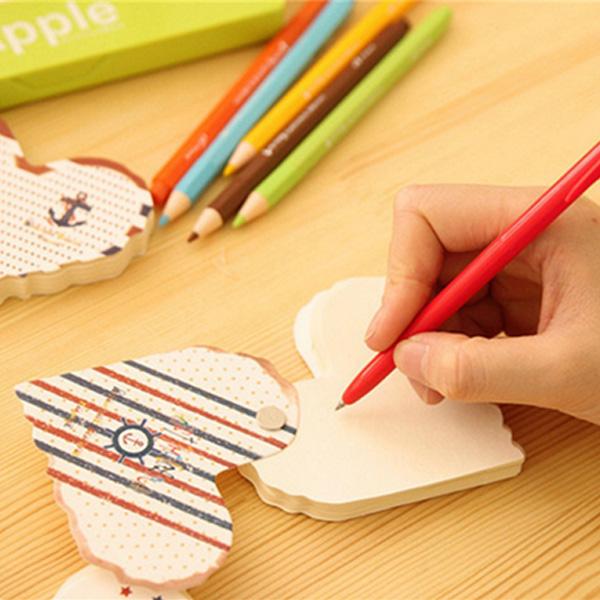 Heart Shaped Notepad mit Schnalle Design Notes Memo Pad Zufalls Büro & Schulbedarf