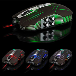 JS-X9 9 Buttons 800/1200/1600/2400 DPI Wired Gaming Mouse