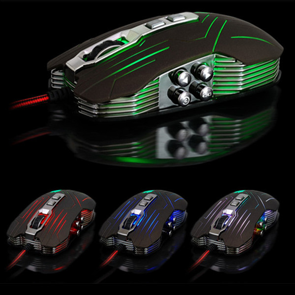 JS-X9 9 Buttons 800/1200/1600/2400 DPI Wired Gaming Mouse Keyboards & Mouse