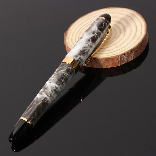 Jinhao X450 Brown Marble Chunky Medium Flex Feder Füllfederhalter Büro & Schulbedarf