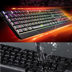 K70 Vandtæt Farverige LED Illuminated Backlit USB Kabling Gaming Tastatur