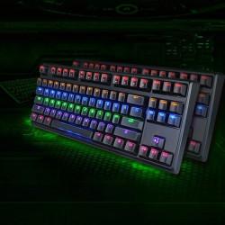Keycool87 Hybrid LED Backlit Kaihua Skift Mekanisk Gaming Tastatur