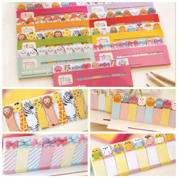 Lovely Cartoon Lollipop Candy Memo Post It Bookmark Sticky Notes Random