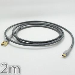 Männlich USB auf Mini USB Gold Kabel für Mechanical Gaming Keyboard 2m