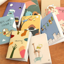 Mini Tecknad Blank Dagbok Pocket Anteckningar Travel Journal Notebook Memo