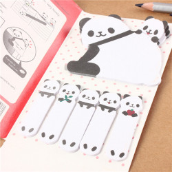 Panda Memo Klistermärke Marker Post It Bokmärk Index Sticky Notes