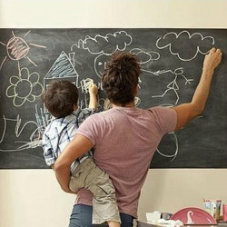 Removable Chalkboard Blackboard Vinyl Wall Sticker with 5 Chalks