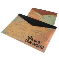 Retro Karta Mönster A4 Kuvert Portfölj Dokument Påsar Mappar