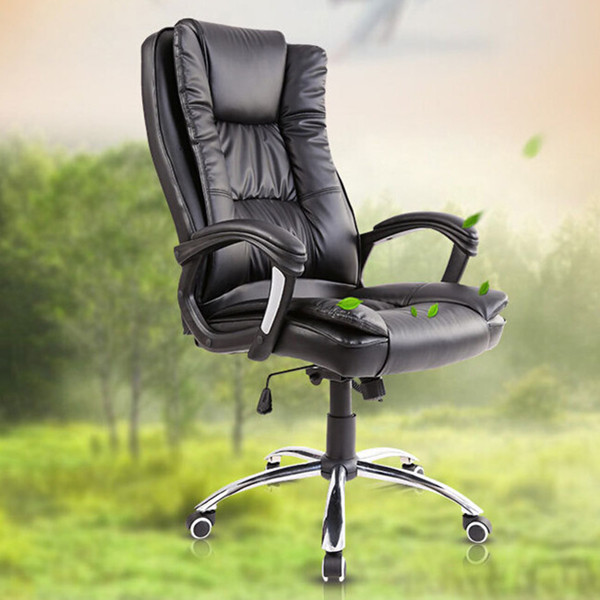 Rocking Kontorstol Lift PU Swivel Chair US Warehouse Kontor & Skoleartikler