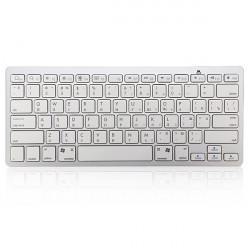 Russisk Bluetooth V3.0 Hvid Tastatur til PC Macbook Android