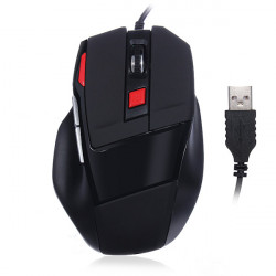 SI-928 Wired Optical USB Game Mouse 800 1200 1600 DPI Ergonomisch