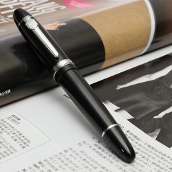 Smooth Black Classic Hållbar Rostfritt Stål Kalligrafi Penna
