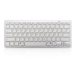 Spanish  Keyboard Bluetooth V3.0 White for PC Macbook Android