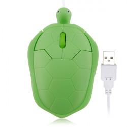 Tre Färg Söt Trådbunden Turtle USB 1000dpi 3D Optisk Mus PC Laptop
