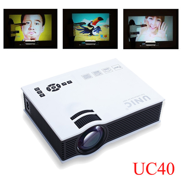 UC40 Home Cinema HD 800LM AV HDMI USB & SD Mini LED Projector Office & School Supplies